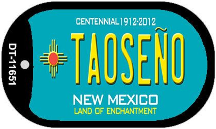 Taoseno Teal New Mexico Novelty Metal Dog Tag Necklace DT-11651