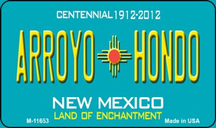 Arroyo Hondo Teal New Mexico Novelty Metal Magnet M-11653