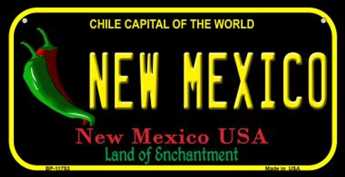New Mexico Black New Mexico Novelty Metal Bicycle Plate BP-11753
