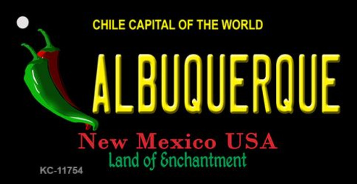Albuquerque Black New Mexico Novelty Metal Key Chain KC-11754