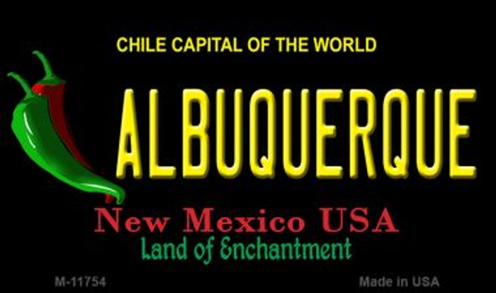 Albuquerque Black New Mexico Novelty Metal Magnet M-11754