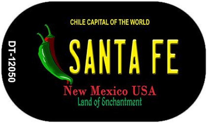 Santa Fe Black New Mexico Novelty Metal Dog Tag Necklace DT-12050
