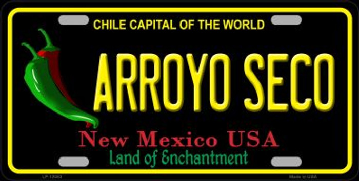 Arroyo Seco Black New Mexico Novelty Metal License Plate LP-12053