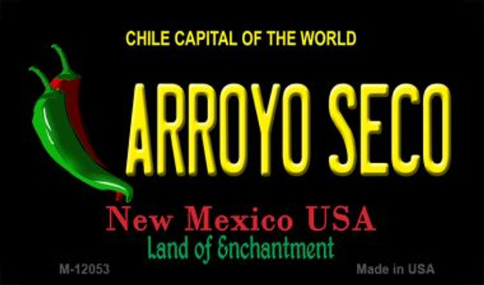 Arroyo Seco Black New Mexico Novelty Metal Magnet M-12053