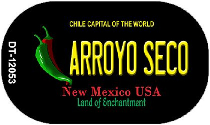 Arroyo Seco Black New Mexico Novelty Metal Dog Tag Necklace DT-12053