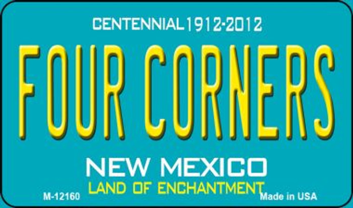 Four Corners Teal New Mexico Novelty Metal Magnet M-12160