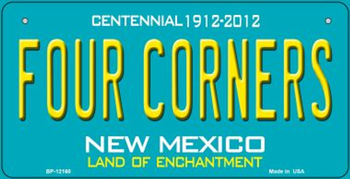 Four Corners Teal New Mexico Novelty Metal Bicycle Plate BP-12160