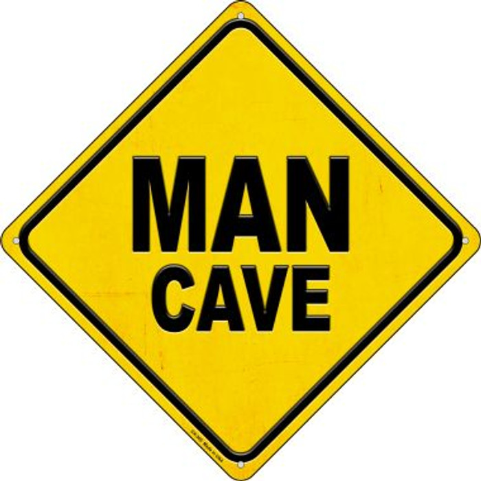 Man Cave Novelty Metal Crossing Sign CX-365