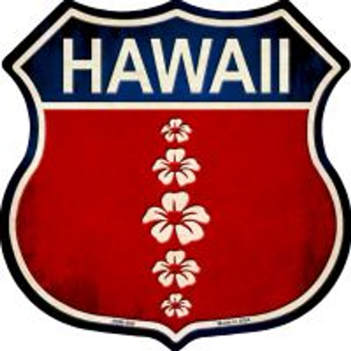 Hawaii Hibiscus Novelty Metal Highway Shield Magnet HSM-566