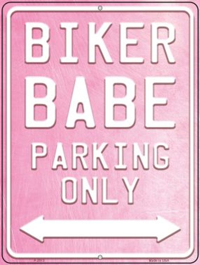 Bike Babe Parking Novelty Metal Parking Sign P-2513