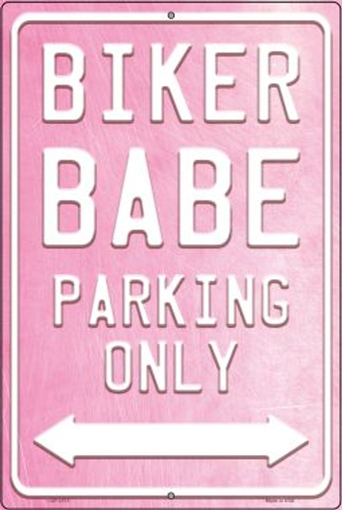 Bike Babe Parking Novelty Metal Large Parking Sign LGP-2513
