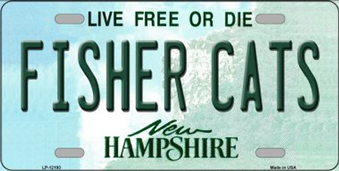 Fisher Cats New Hampshire Novelty Metal License Plate LP-12193