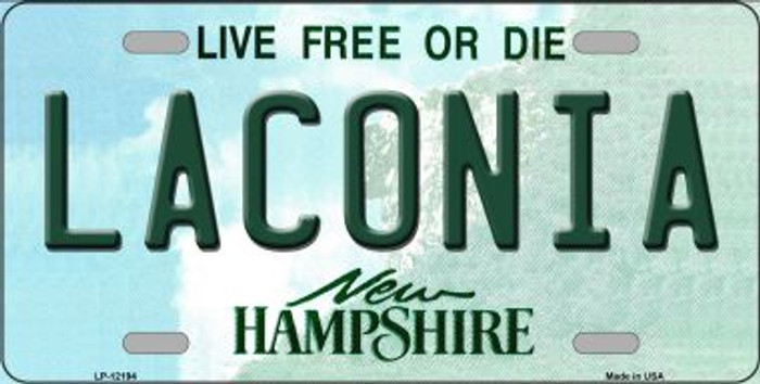 Laconia New Hampshire Novelty Metal License Plate LP-12194