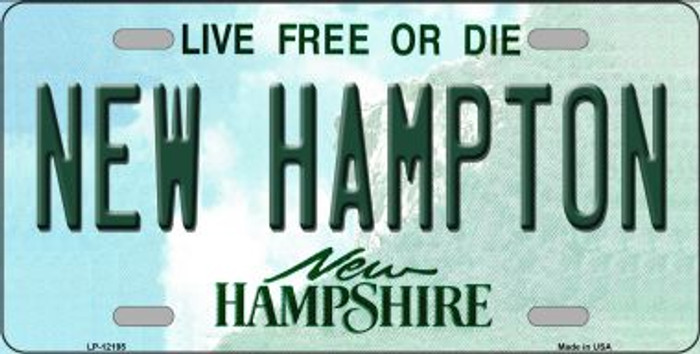 New Hampton New Hampshire Novelty Metal License Plate LP-12195