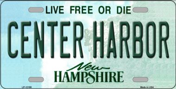 Center Harbor New Hampshire Novelty Metal License Plate LP-12198