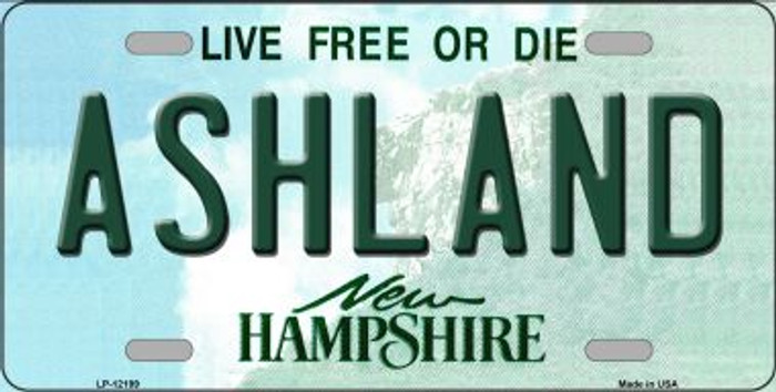 Ashland New Hampshire Novelty Metal License Plate LP-12199