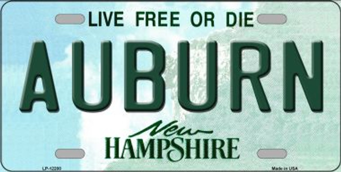 Auburn New Hampshire Novelty Metal License Plate LP-12200