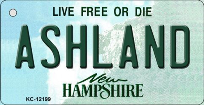 Ashland New Hampshire Novelty Metal Key Chain KC-12199