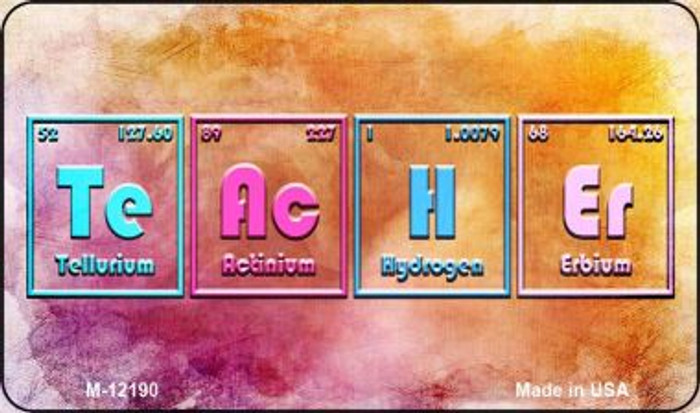 Teacher Periodic Table Novelty Metal Magnet M-12190