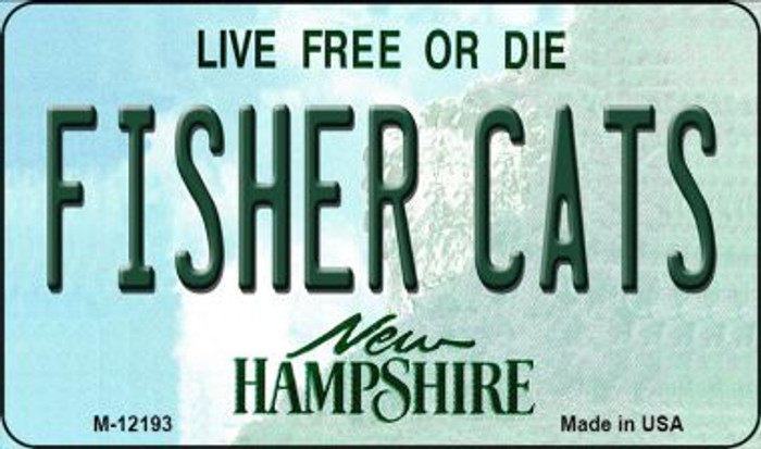 Fisher Cats New Hampshire Novelty Metal Magnet M-12193