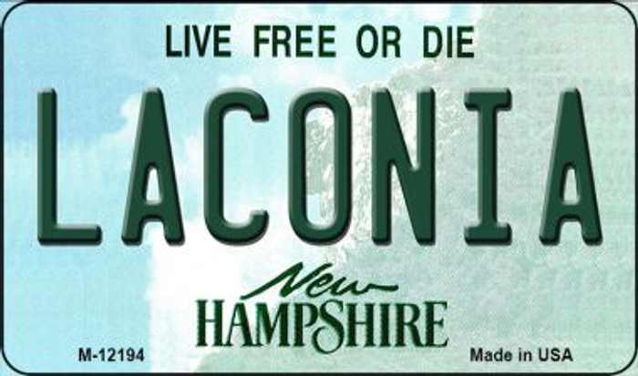 Laconia New Hampshire Novelty Metal Magnet M-12194