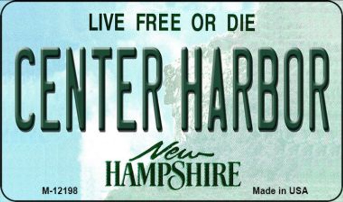 Center Harbor New Hampshire Novelty Metal Magnet M-12198