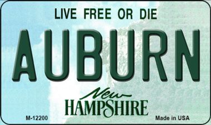 Auburn New Hampshire Novelty Metal Magnet M-12200