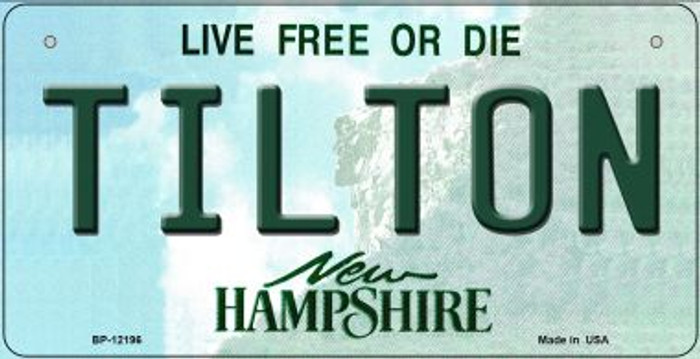 Tilton New Hampshire Novelty Metal Bicycle Plate BP-12196