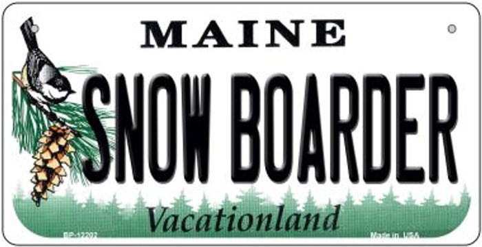 Snow Boarder Maine Novelty Metal Bicycle Plate BP-12202