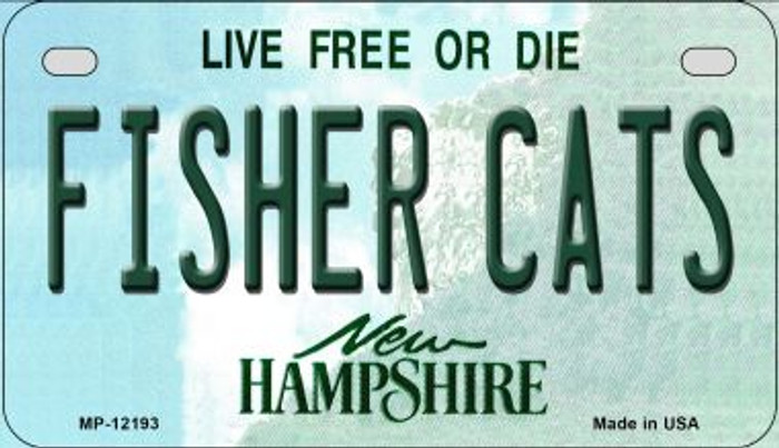 Fisher Cats New Hampshire Novelty Metal Motorcycle Plate MP-12193