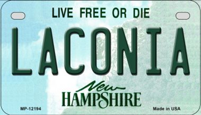 Laconia New Hampshire Novelty Metal Motorcycle Plate MP-12194