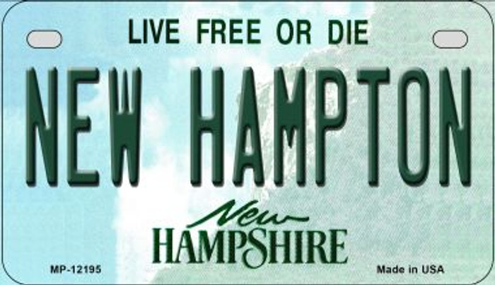 New Hampton New Hampshire Novelty Metal Motorcycle Plate MP-12195