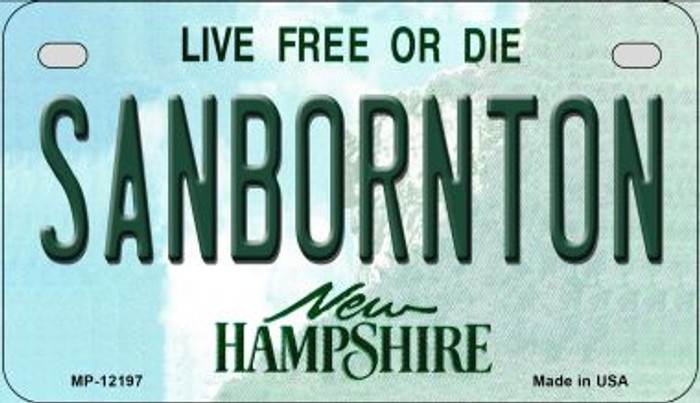 Sanbornton New Hampshire Novelty Metal Motorcycle Plate MP-12197