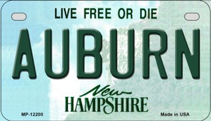 Auburn New Hampshire Novelty Metal Motorcycle Plate MP-12200