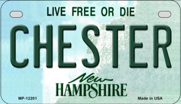 Chester New Hampshire Novelty Metal Motorcycle Plate MP-12201