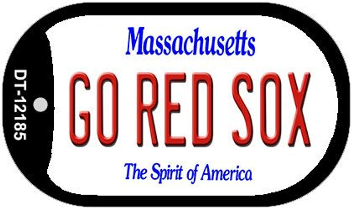 Go Red Sox Massachusetts Novelty Metal Dog Tag Necklace DT-12185