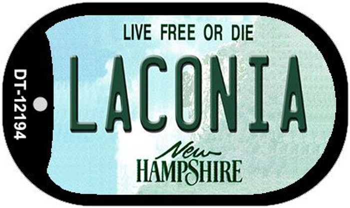 Laconia New Hampshire Novelty Metal Dog Tag Necklace DT-12194