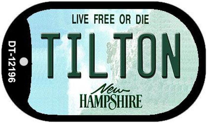 Tilton New Hampshire Novelty Metal Dog Tag Necklace DT-12196