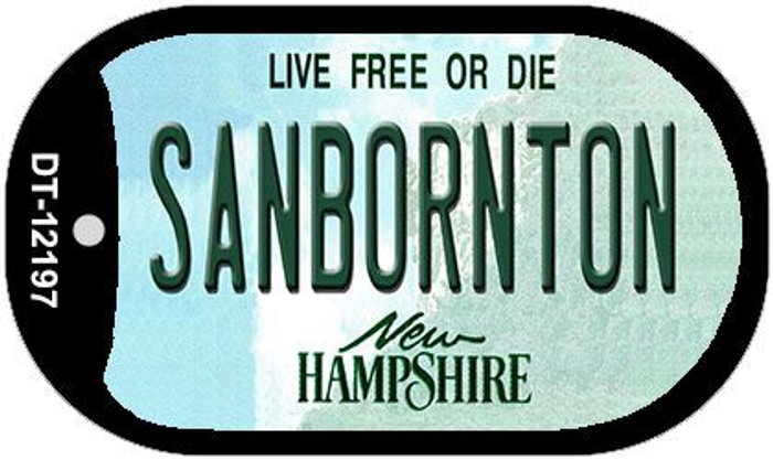 Sanbornton New Hampshire Novelty Metal Dog Tag Necklace DT-12197