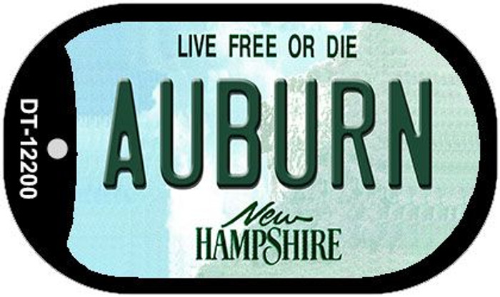 Auburn New Hampshire Novelty Metal Dog Tag Necklace DT-12200