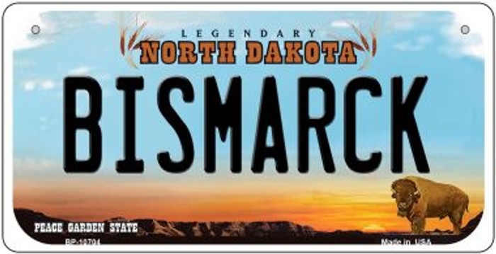 Bismarck North Dakota Novelty Metal Bicycle Plate BP-10704