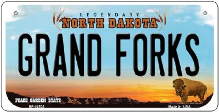 Grand Forks North Dakota Novelty Metal Bicycle Plate BP-10705