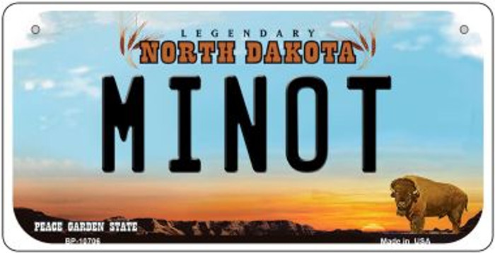 Minot North Dakota Novelty Metal Bicycle Plate BP-10706