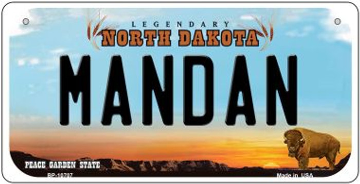 Mandan North Dakota Novelty Metal Bicycle Plate BP-10707