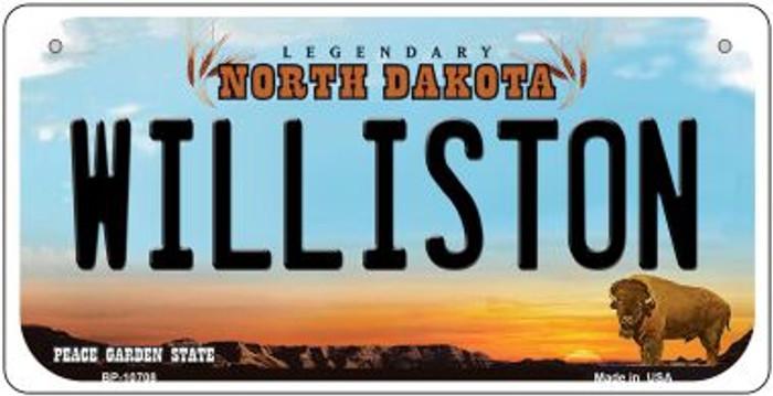 Williston North Dakota Novelty Metal Bicycle Plate BP-10708