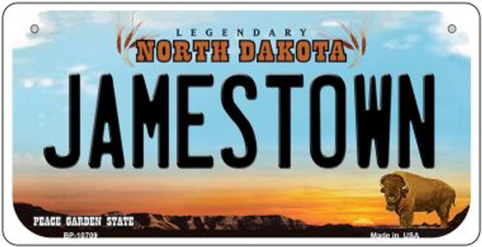 Jamestown North Dakota Novelty Metal Bicycle Plate BP-10709