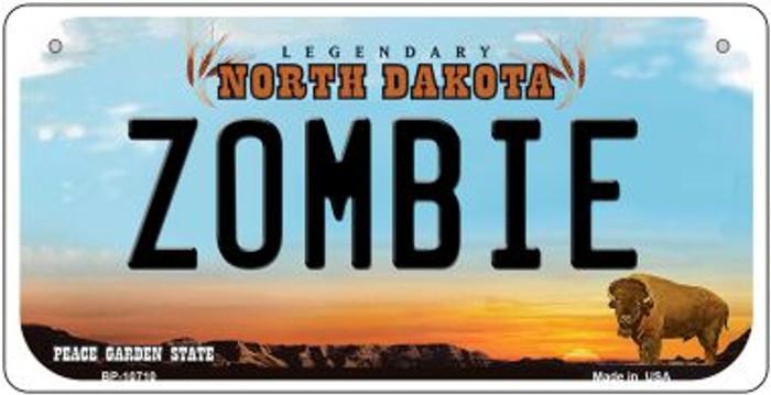 Zombie North Dakota Novelty Metal Bicycle Plate BP-10710
