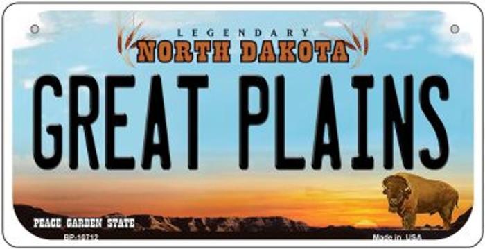 Great Plains North Dakota Novelty Metal Bicycle Plate BP-10712