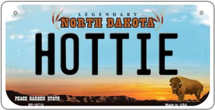 Hottie North Dakota Novelty Metal Bicycle Plate BP-10713