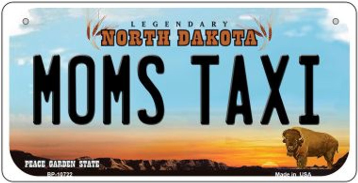 Moms Taxi North Dakota Novelty Metal Bicycle Plate BP-10722
